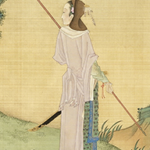 Legendary warrior Hua Mulan, painted in the Qing dynasty by He Dazi (赫達資).