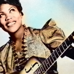 """Sister Rosetta Tharpe, who created rock and roll. Image is from the American Masters documentary, """"Sister Rosetta Tharpe: The Godmother of Rock and Roll."""""""