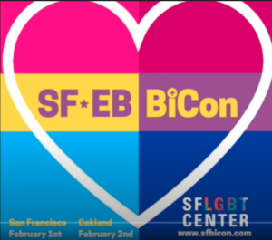 [the san francisco and east bay bi con logo, a big heart over a square background that's half pan flag half bi flag.]
